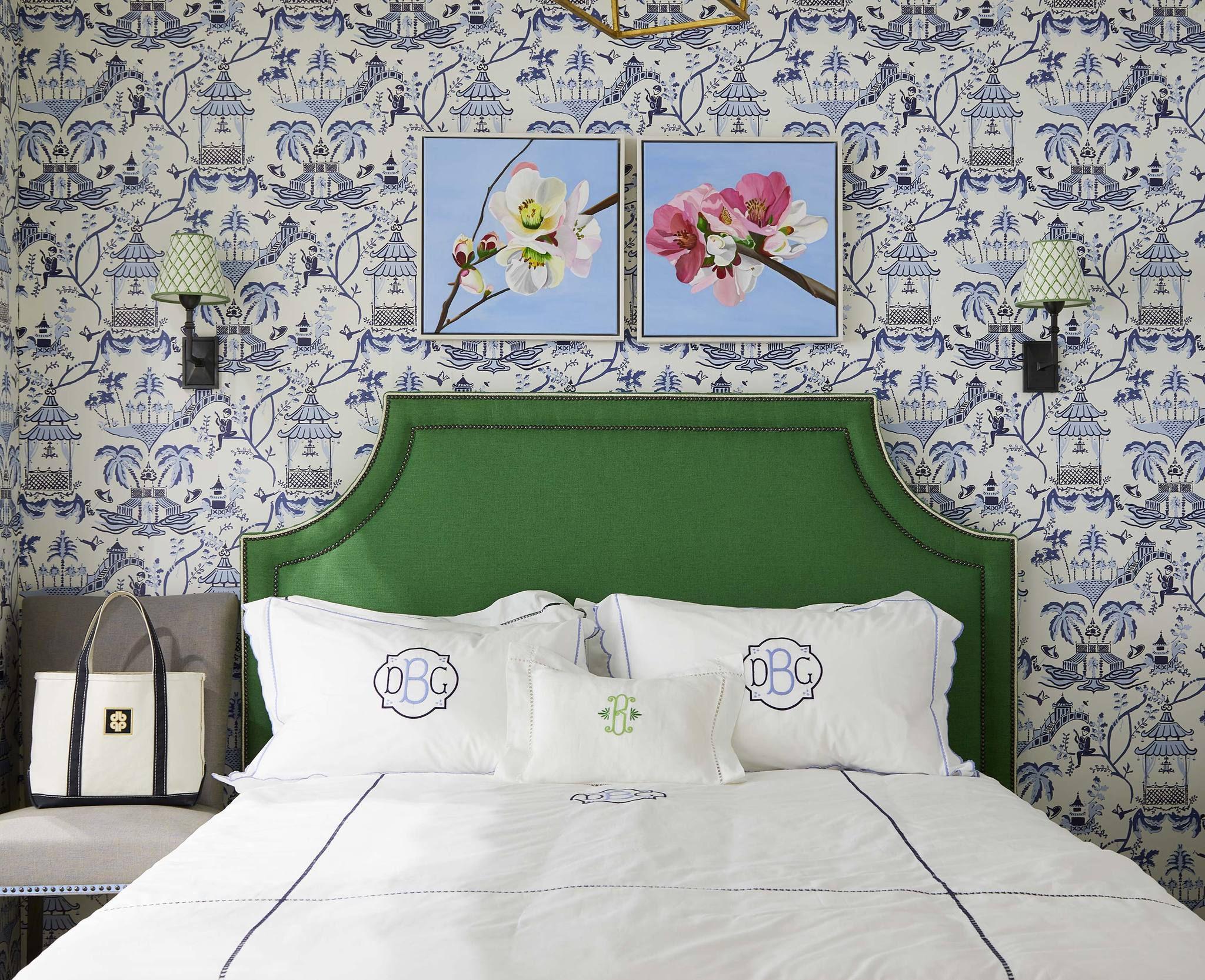 Mulberry Wallpaper • Dianne Bergeron • Indigo •Milton & King