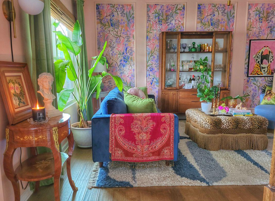 Preppy Bohemian at Home Daphne Wallpaper